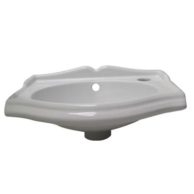 Wall Mount Sink No Faucet Hole : Whitehaus Collection Isabella Wall-Mounted Bathroom Sink with No Holes ...