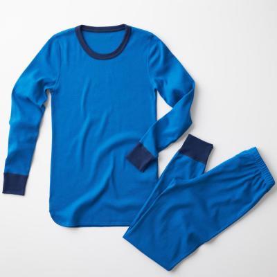 Family Snug-Fit Company Men's Bright Blue Cotton Pajama Set