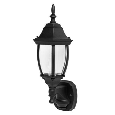 CCI 17.7 in. Outdoor Black Motion Activated Die Cast Coach Lantern