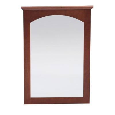 Melborn 31 in. L x 22 in. W Wall Mirror in Chestnut Product Photo