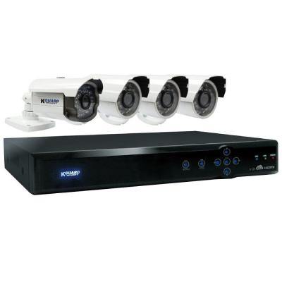 KGUARD Security Aurora 8-Channel 960H Cloud Surveillance System with 1TB HDD (1) 800TVL Auto Tracking and (3) 700TVL Camera