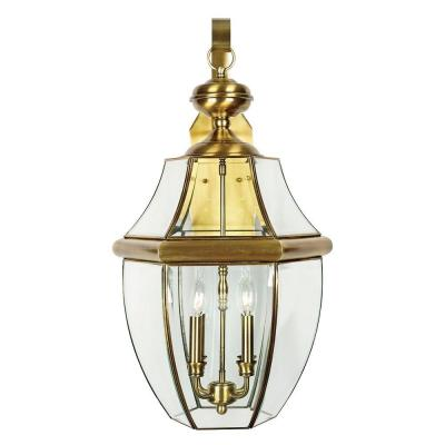 Home Decorators Collection Newbury 4-Light Outdoor Antique Brass Wall Lantern