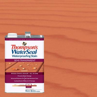 Thompson's WaterSeal 1 gal. Semi-Transparent Sequoia Red Waterproofing Stain