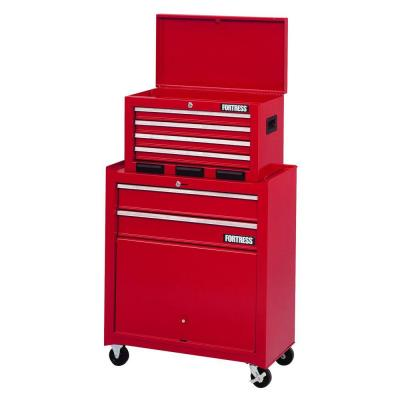 Fortress 26 in. Wide 6-Drawer Tool Center with Parts Bin