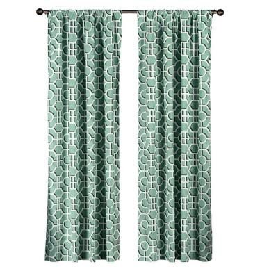 Teal Lenox Extra Wide 100% Cotton Rod Pocket Curtain Panel Pair - 104 in. W x 96 in. L (2-Pack) Product Photo