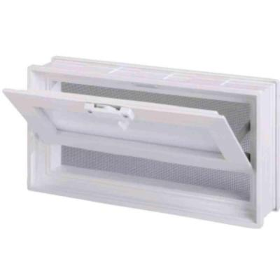 Pittsburgh Corning 7-3/4 in. x 15-3/4 in. Glass Block Universal Hopper Vent in White