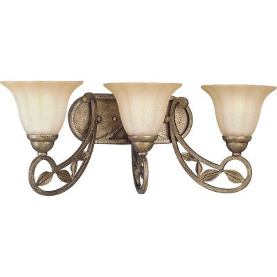 Progress Lighting Le Jardin Collection Biscay Crackle 3-light Vanity Fixture P2968-91C