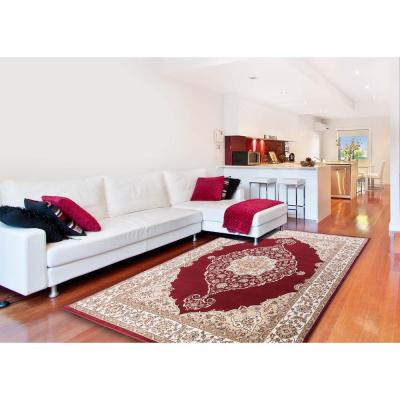 Bazaar Emy Red/Ivory 7 ft. 10 in. x 10 ft. 1 in. Area Rug Product Photo