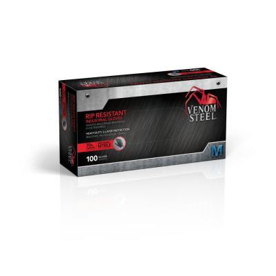 Heavy Duty Black Nitrile Gloves (100 per Box)