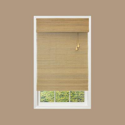 Home Decorators Collection Natural Multi-Weave Bamboo Roman Shade - 31 in. W x 72 in. L