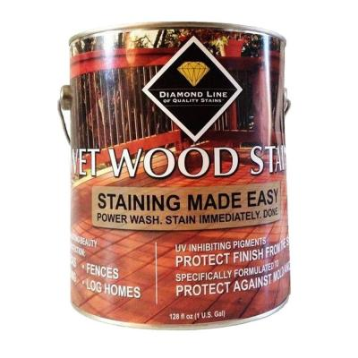 Wet Wood Stain 1 gal. Western Brown Semi-Transparent Exterior Stain