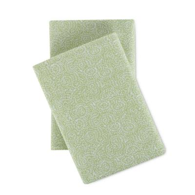 Sage Floral Cotton Flannel Sheet Set