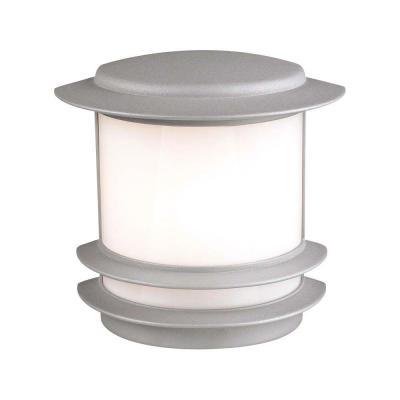 PLC Lighting 1-Light Outdoor Black Wall Sconce with Opal Glass