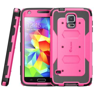 i-Blason Galaxy S5 Armorbox Series Full-Body Case with Screen Protector, Pink