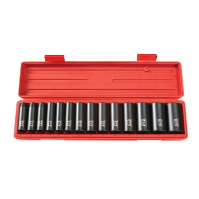 1/2 in. Drive 11-32 mm 6-Point Deep Impact Socket Set