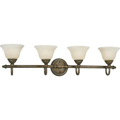 Progress Lighting Savannah Collection Burnished Chestnut 4-light Vanity Fixture P3207-86