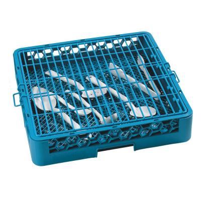 17.88x17.88 in. Hold Down Grid for Open Dishwashing Rack in Blue