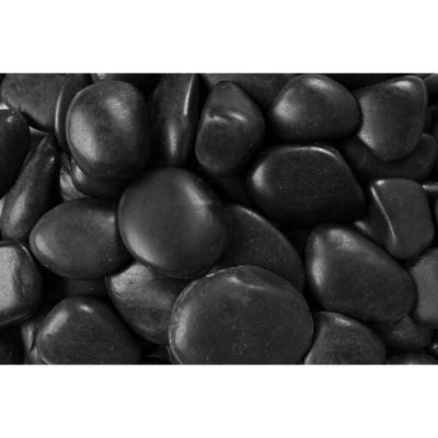 20 lb. Grade A Black Polished Pebbles 1 in. to 2 in. Product Photo