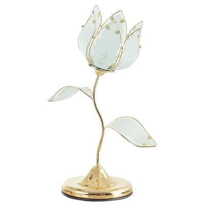 OK LIGHTING 20 in. Gold Tulip Touch Table Lamp