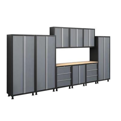NewAge Products Bold Series 76 in. H x 168 in. W x 18 in. D Metal Cabinet Set in Gray (10 Piece)