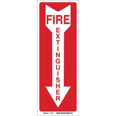 24 in. x 4 in. Fiberglass Fire Extinguisher with Arrow Sign