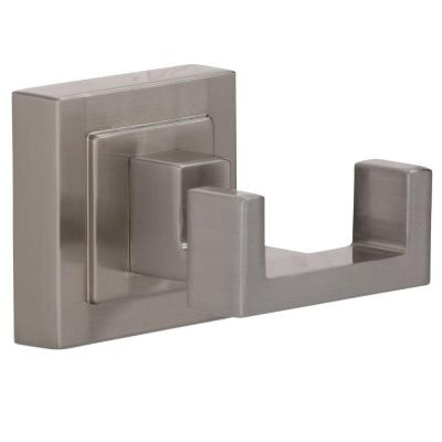 Adelyn Double Robe Hook in Brushed Nickel