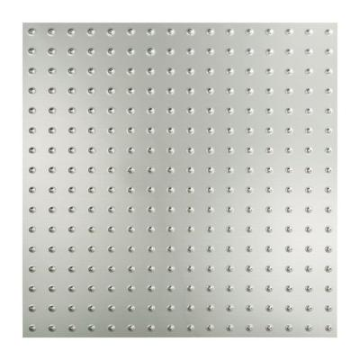 Fasade Minidome - 2 ft. x 2 ft. Lay-in Ceiling Tile in Brushed Aluminum