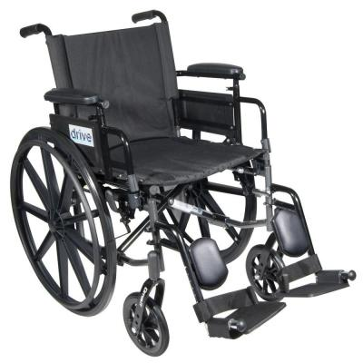 Cirrus IV Lightweight Dual Axle Wheelchair with Adjustable Arms, Detachable Desk
