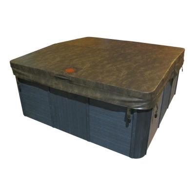 80 in. x 80 in. Square Spa Cover in Brown (5 in. x 3 in. Taper) Product Photo