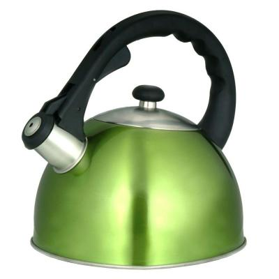 Satin Splendor 11-Cup Tea Kettle with Stainless Steel in Metallic Chartreuse