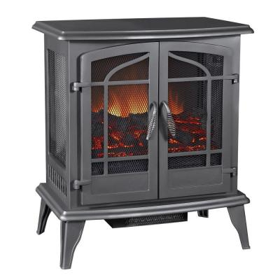 Pleasant Hearth 25 in. Vintage Iron Panoramic Electric Stove