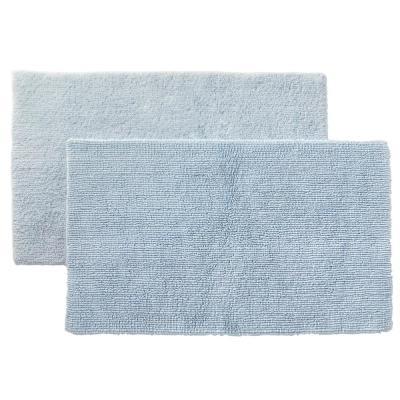 Cotton Reversible Bath Rug (Set of 2)