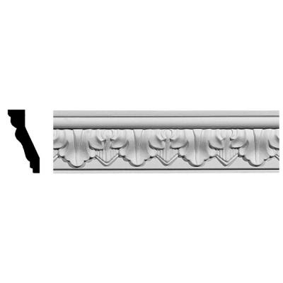 1-1/4 in. x 2-5/8 in. x 94-1/2 in. Polyurethane Ashur Leaf Crown Moulding Product Photo