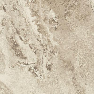 Groutable Light Travertine 18 in. Width x 18 in. Length x 0.1 in. Thick Peel and Stick Vinyl Tile Product Photo