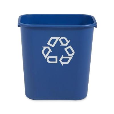 Rubbermaid Commercial Products 7 Gal. Deskside Recycling Trash Container