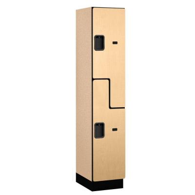 27000 Series 2-Tier 'S-Style' Wood Extra Wide Designer Locker in Maple