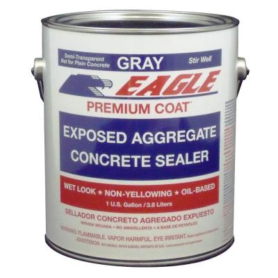 1 gal. Premium Coat Gray Semi-Transparent Wet Look Glossy Solvent-Based Acrylic