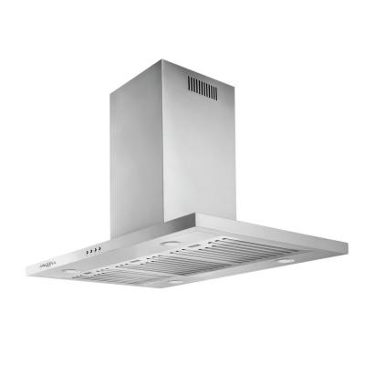 Aero Island IV 36 in. Island-Mounted Convertible Range Hood in Stainless