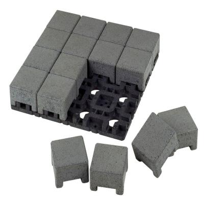 4 in. x 4 in. Waterwheel Composite Standard Paver Grid System (16 Pavers and 1 Grid) Product Photo