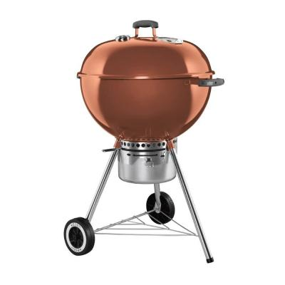 weber one touch gold 22 1 2 in charcoal grill in copper 1352001 the home depot. Black Bedroom Furniture Sets. Home Design Ideas