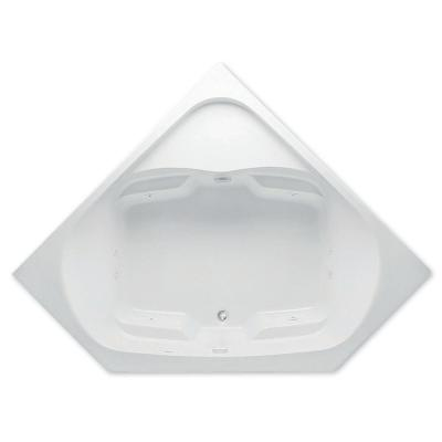Cavalcade 5 ft. Center Drain Acrylic Whirlpool Bath Tub in White Product Photo