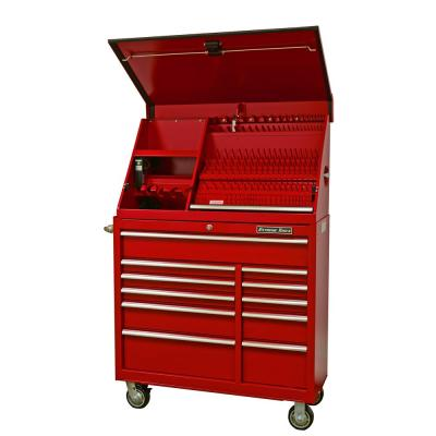 Extreme Tools 41 in. Portable Workstation and 11-Drawer Standard Roller Cabinet Combination, Red