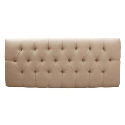 Tivoli Oatmeal Microsuede Button Tufted Full Headboard