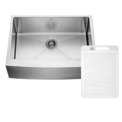Farmhouse Apron Front 30 in. Single Bowl Kitchen Sink in Stainless