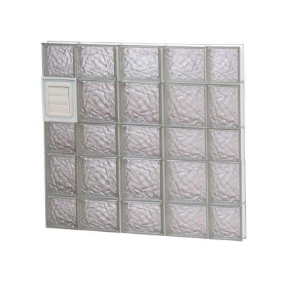 34.75 in. x 32.75 in. x 3.125 in. Ice Pattern Glass Block Window with Dryer Vent Product Photo