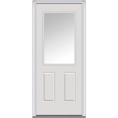 32 in. x 80 in. Classic Clear Glass 1/2 Lite 2-Panel