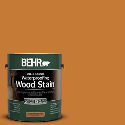 BEHR 1-gal. #SC-140 Bright Tamra Solid Color Waterproofing Wood Stain