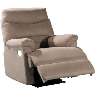 Microfiber 1-Piece Recliner Chair in Light Brown