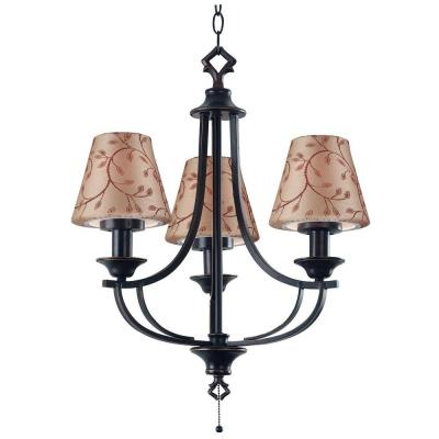 Kenroy Home Belmont 23 in. Oil Rubbed Bronze 3 Light Outdoor Chandelier 31367ORB