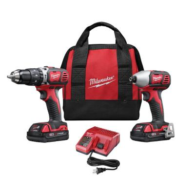 Milwaukee M18 18-Volt Lithium-Ion Cordless Hammer Drill/Impact Driver Combo Kit (2-Tool)